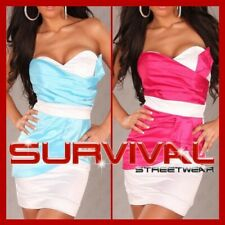 NEW SEXY WOMENS MINI STRAPLESS DRESS SIZE 6 8 10 12 COCKTAIL EVENING CLUB PARTY