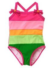 NWT Gymboree Winter Penguin Stripe Colorblock One-Piece Swimsuit Swimwear NEW 12