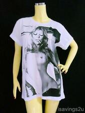 KATE MOSS T-shirt, SEXY Model POP Rock, WHITE Cotton Unisex S M or L, Music New