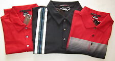 NIKE Mens Tiger Woods Dri-FIT Golf Shirts- L, XL Black, Red