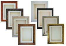 """3D 18x14"""" & 20x16"""" Box Picture Photo Frame Cast Medal Display 32mm/1.25"""" Deep"""