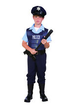 POLICE OFFICER POLICEMAN COP CHILD BOY COSTUMES LAW ENFORCE KIDS OUTFIT 90264
