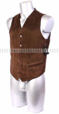 Indiana Brown Mens Gent's Smart Leather Suede Waistcoat