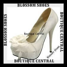 DESIGNER SHOES BEIGE SATIN HEELS EVENING/WEDDING SIZE AU6-10