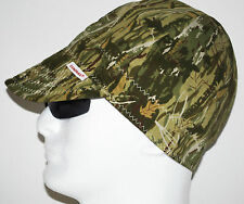 NWT Welding Cap Welders Hat Comeaux Caps CAMOUFLAGE Reversible 2000 Sized CAMO