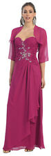 MODEST BRIDESMAID MOTHER OF THE BRIDE GROOM SIMPLE FORMAL EVENING DRESS W/JACKET