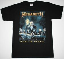 MEGADETH RUST IN PEACE'90 DAVE MUSTAINE METALLICA ANTHRAX NEW BLACK T-SHIRT