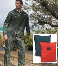 Result BLACK BLUE RED BLUE YELLOW Waterproof Jacket & Trouser Suit with Bag