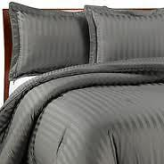 Sale 1000TC 100%Cotton Complete Soft UK Bedding Collection Gray/Grey Choose Item