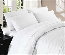 1000TC White Sheet Set Choose Sizes & Pattern 100%Cotton Deep Pocket Up to 21""