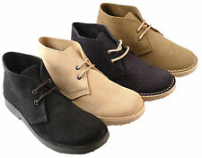 Mens New Wide Fitting Desert Suede Boots / Shoes  In 4 Colours Uk  6 - 12