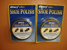 Shoe Polish Large Can 50grams Black or Brown   Allary