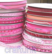 "Grosgrain Ribbon mix color Mix pattern 3/8""10mm 5/8""16mm 7/8""22mm Value Pack"