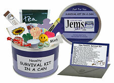 JEMSIDEAS New Parents Survival Kit In A Can. Novelty Mum & Dad Gift With Card