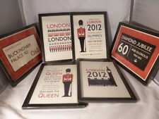 Large Wooden Framed Print Picture British Souvenir Diamond Jubilee Olympics 2012
