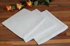 White 100% Cotton Dinner Napkins - Hemstitch Table Linen Cloth
