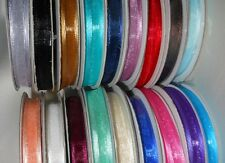 Full 25 Yard Roll of  Satin Edge Organza Ribbon 10mm  wide  Choose Colour