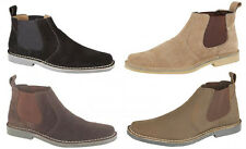 Mens New Black / Taupe Suede Chelsea Dealer Boots 6 - 12