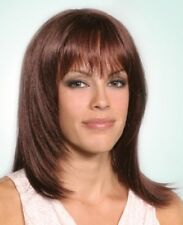 CHEYENNE BLONDE AUBURN BLACK BROWN LONG STRAIGHT COSTUME WIG BEVELED ENDS BANGS