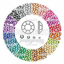 1000pcs Wholesale Crystal Round DIY 20 Colors Fashion Flat Back Rhinestones