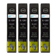 4 Black Ink Cartridges non-OEM to replace T1281 (Fox) Compatible for Printers