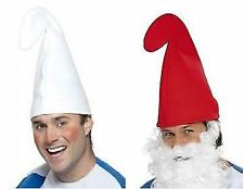 White or Red Gnome Smurf Hat Fancy Dress Party Accessory Costume