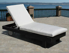 Outdoor Patio Chaise Lounge Replacement Cushion Pad Choice of Sunbrella Fabrics