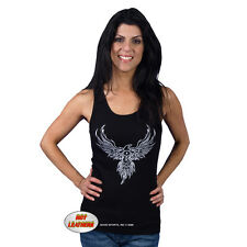 "Women's ""Motor Phoenix"" Black Tank Top"
