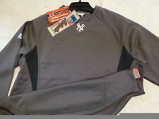 03BB-Y YOUTH Majestic NEW YORK YANKEES THERMA BASE Jersey Pullover Navy/Gray