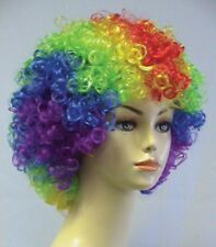 RAINBOW BLUE RED CLOWN WIG ADULT MENS WOMAN CIRCUS CLOWN AFRO COSTUME WIG 4070