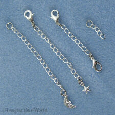 SILVER-PLATED /Tone Safety or EXTENDER CHAIN Custom Handmade Your Style / Length