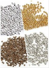 Silver/Golden/Nickel/Copper Plated Metal Round Spacer Beads For DIY Craft 2.5mm