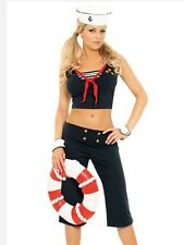 Adult Sexy First Mate Sailor Girl Halloween Costume Fancy Dress Up
