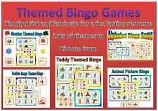 Themed bingo games all only 99p each EYFS KS1 healthy eating road safety colours