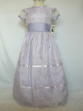 New Girl Wedding Easter Recital Party Formal Dress in Lavender size: 6,8,10