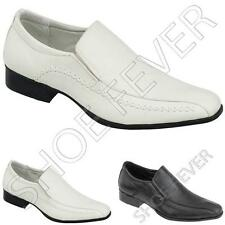 MENS SMART SHOES WEDDING FORMAL OFFICE WORK EVENING DRESS PARTY BLACK WHITE SIZE