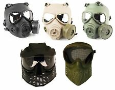 BB AIRSOFT & PAINTBALL SPORTS FULL FACE PROTECT SAFETY MASK PELLET GOGGLES