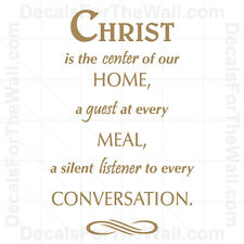 Christ is the Center of Our Home A Guest God Wall Decal Vinyl Art Quote Decor R8
