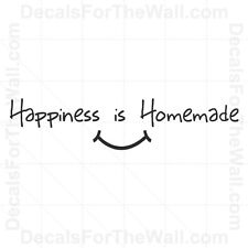 Happiness is Homemade Kitchen Wall Decal Vinyl Art Sticker Quote Decor KI21