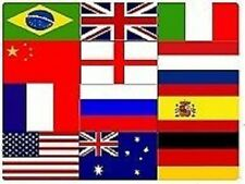 Large National Flags Euro 2012 World Cup Rugby Six 6 Nations Olympics Flag 5 x 3