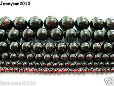 Natural Dark Red Garnet Gemstone Round Beads 16'' 2mm 3mm 4mm 6mm 8mm 10mm 12mm