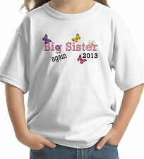 BIG SISTER AGAIN FLOWERS BUTTERFLY 2012 2013 2014 T-SHIRT