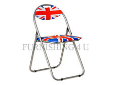 NEW FOLD AWAY FOLDING BRITISH UNION JACK METAL PORTABLE GARDEN PICNIC CAMPING