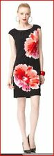 NEW! LONDON TIMES FREE FLOW FLORAL PLEATED NECK DRESS Many Sizes & Colors!