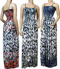 Strappy Summer Maxi Dress UK Size 10 - 26 (SKN-FLO) Available in 4 Lengths