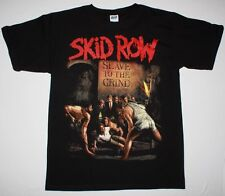 SKID ROW SLAVE TO THE GRIND '91 GLAM ROCK METAL POISON RATT NEW BLACK T-SHIRT