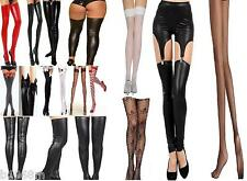 STOCKINGS WET LOOK PUNK ROCK TIGHTS ADULT TEEN FANCY DRESS BURLESQUE BRIDE DANCE