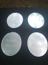 OVAL ACRYLIC MIRROR 4 styles with or without border/text 4 sizes