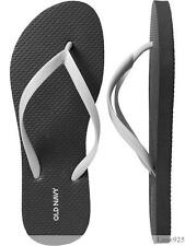 NWT Ladies FLIP FLOPS Old Navy Thong Sandals BLACK/WHITE Shoes 7,8,9,10,11