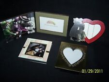 Set 3 Kim Anderson picture photo frames heart rose girl boy metal glass